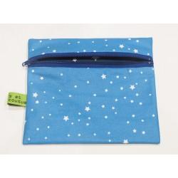 Bleue à étoiles