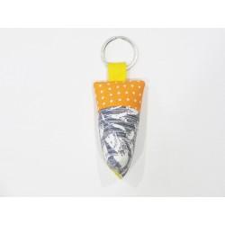 Porte-clés orange et gris
